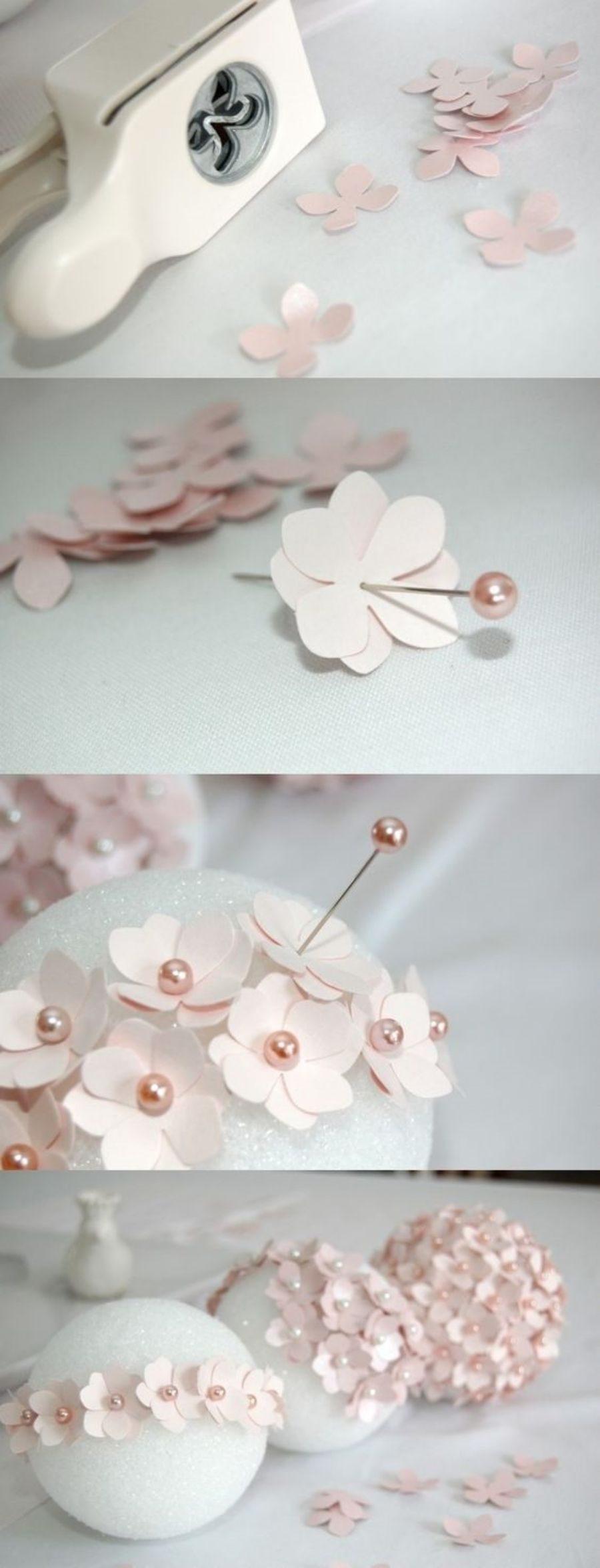 Passo-a-passo de enfeites com flores de papel