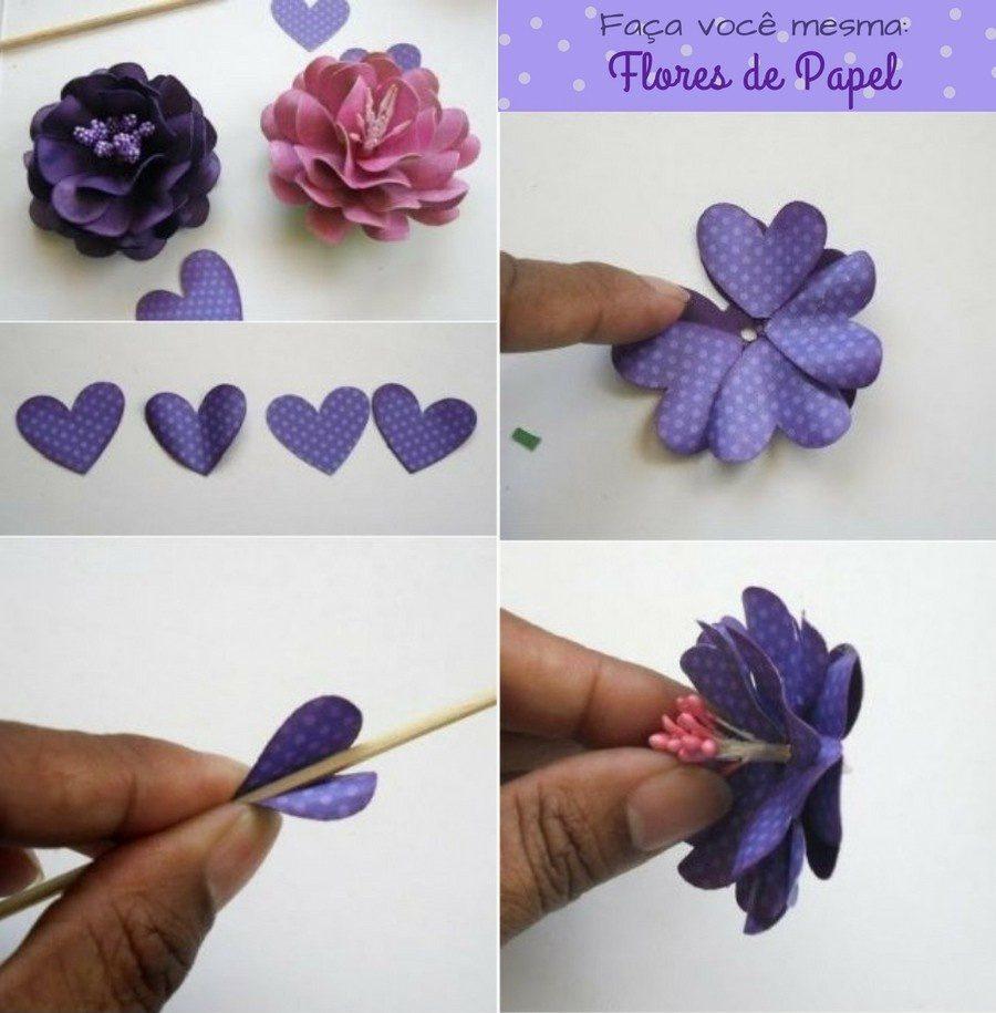 Passo-a-passo para fazer flores de papel