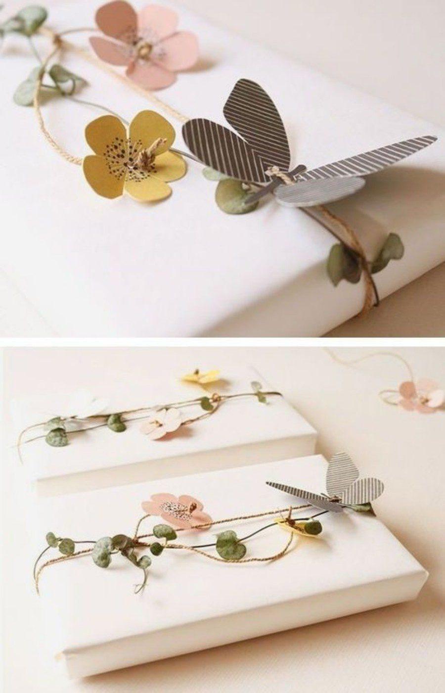 DIY: embalagens com efeites de flores de papel
