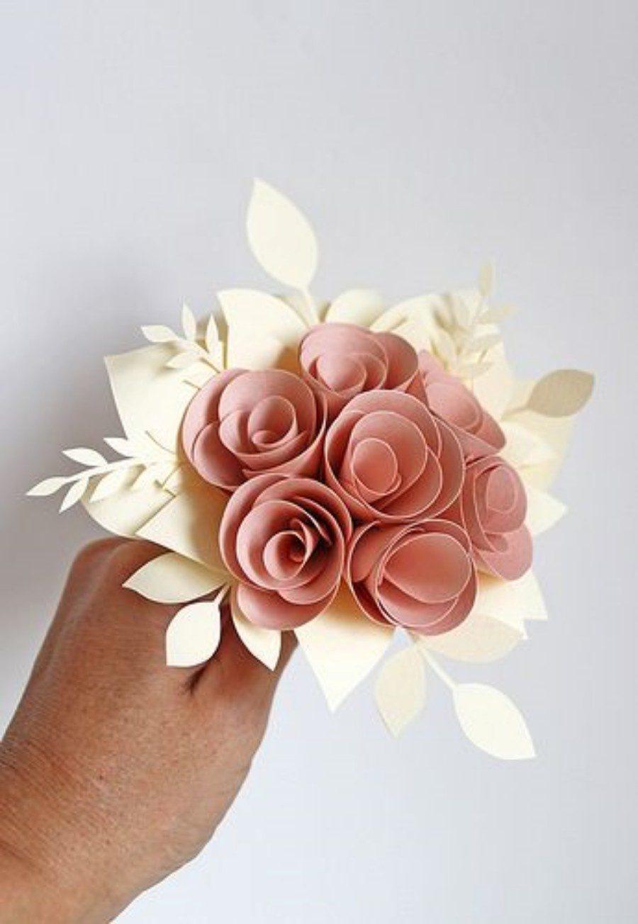 DIY - Buquê de flores de papel