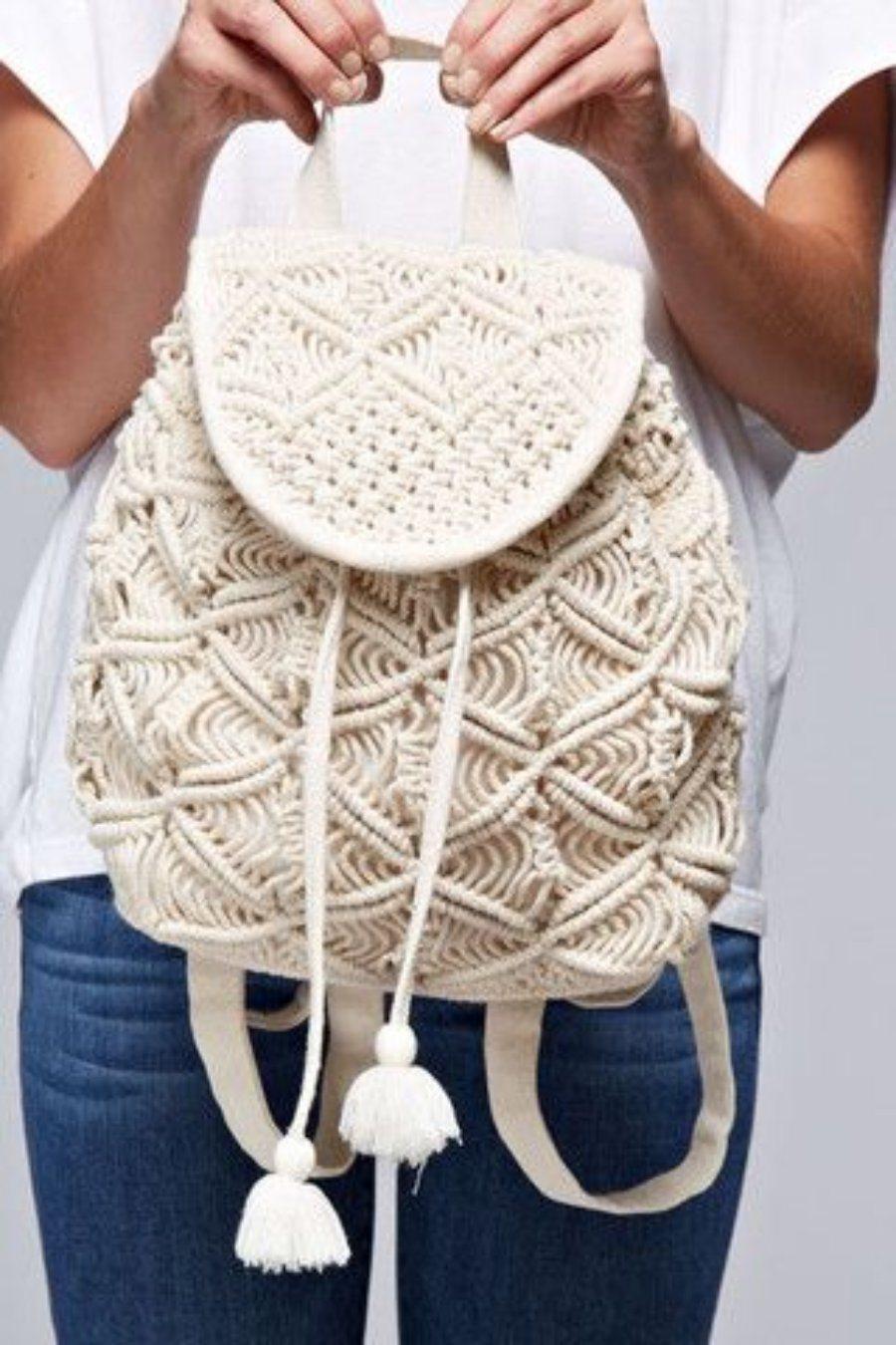 12 Ideias para fazer sua bolsa de macramê