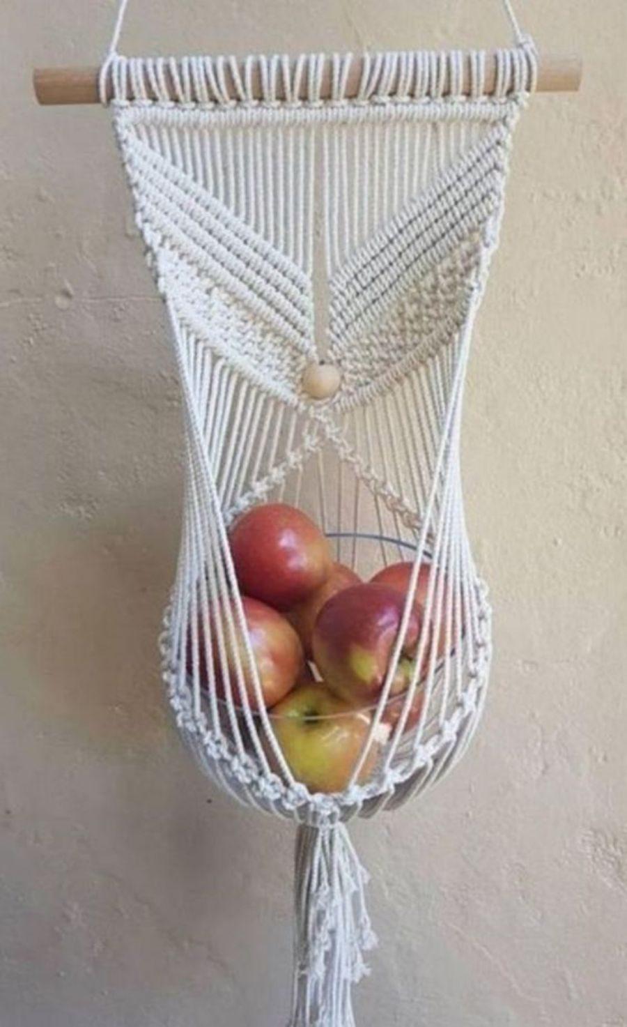 Faça e decore : Fruteira em macramê