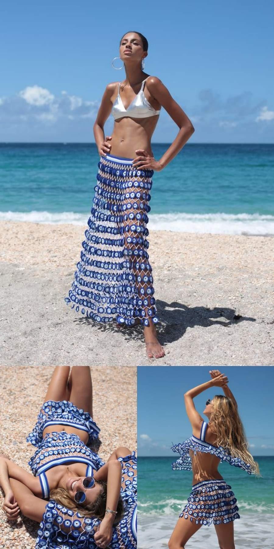 É verão! 16 modelos de saída de praia em crochê para copiar