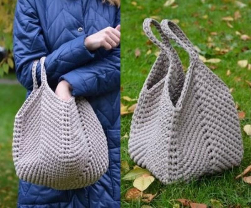DIY: 12 Ideias de bolsa de crochê #1