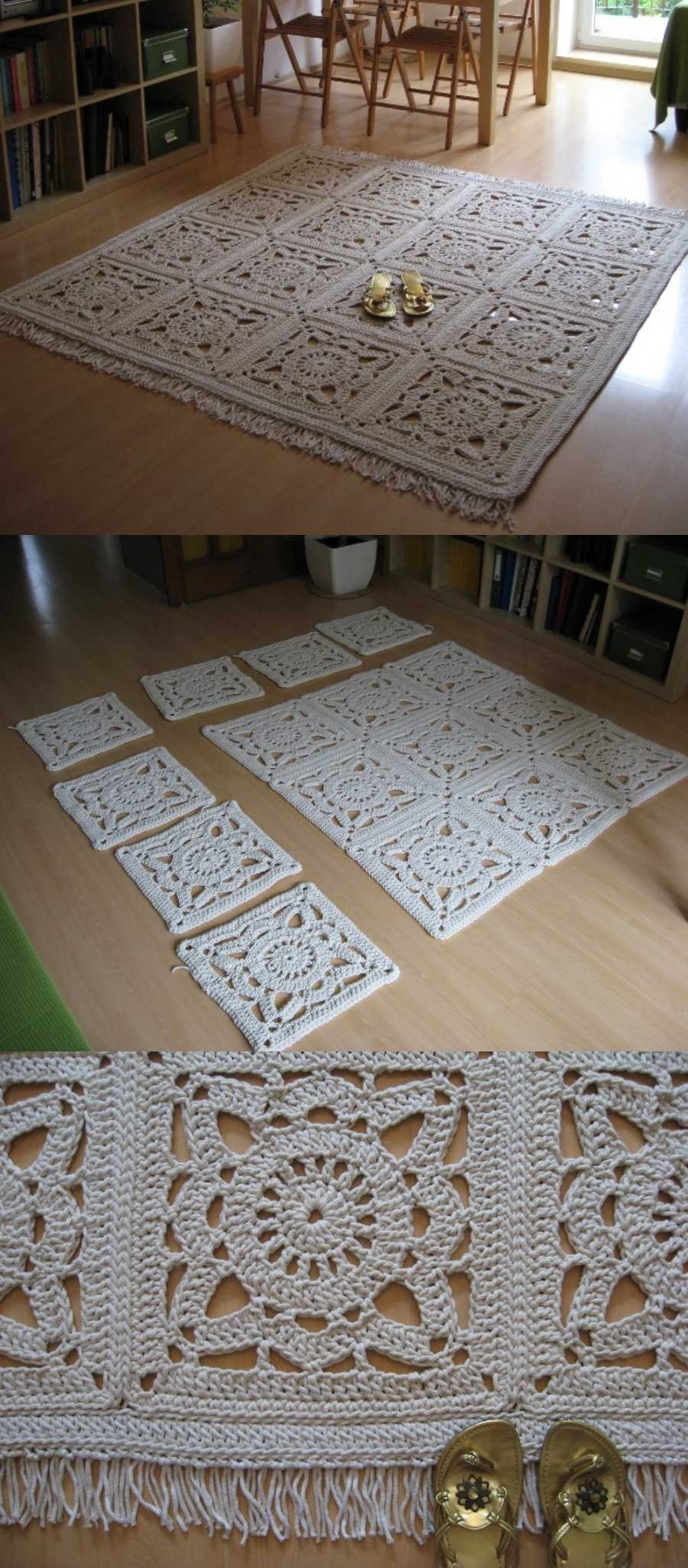 DIY: +10 tapetes de crochê fora do banheiro