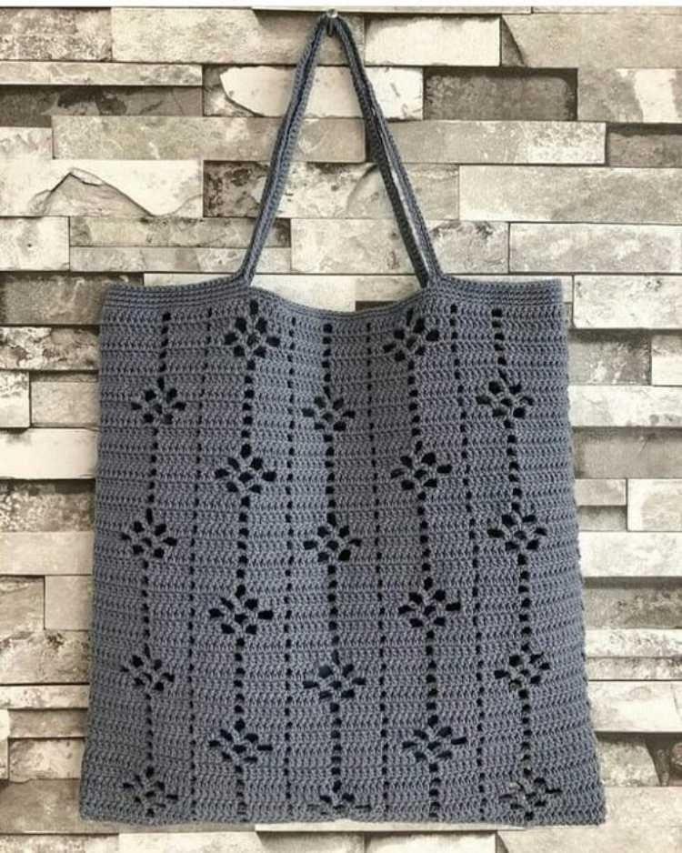 Inspire-se: 20 Modelos de bolsa sacola de crochê