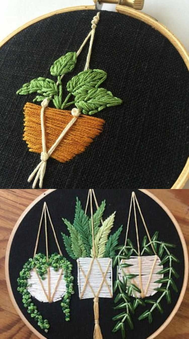 DIY - Mini bordado com cactos e suculentas