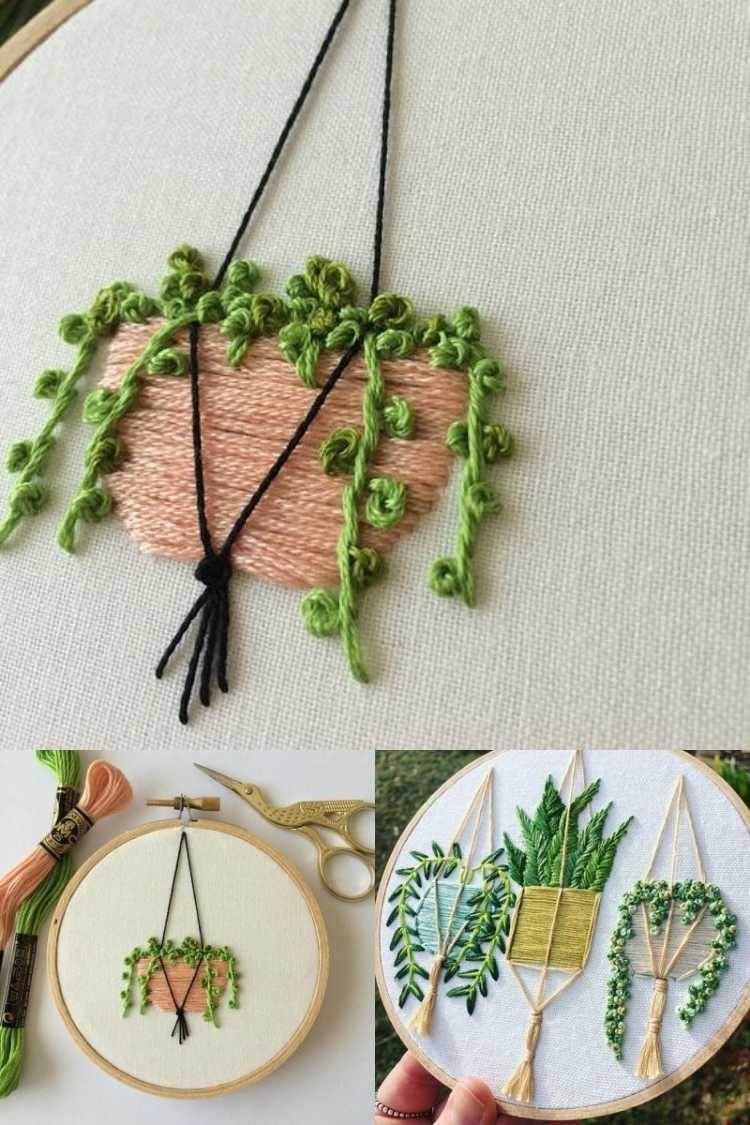 20 ideias para decorar bordando cactos e suculentas
