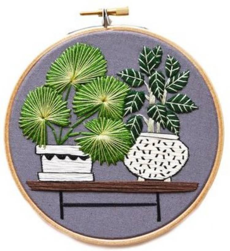 DIY - Mini bordado com cactos e suculentas