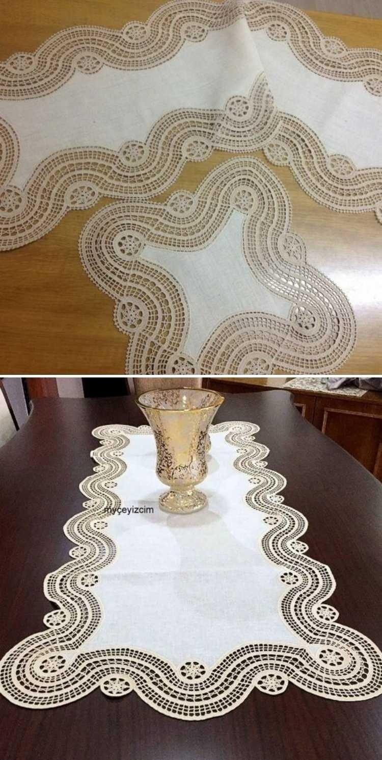 Encante-se: Os belos detalhes em crochê na mesa