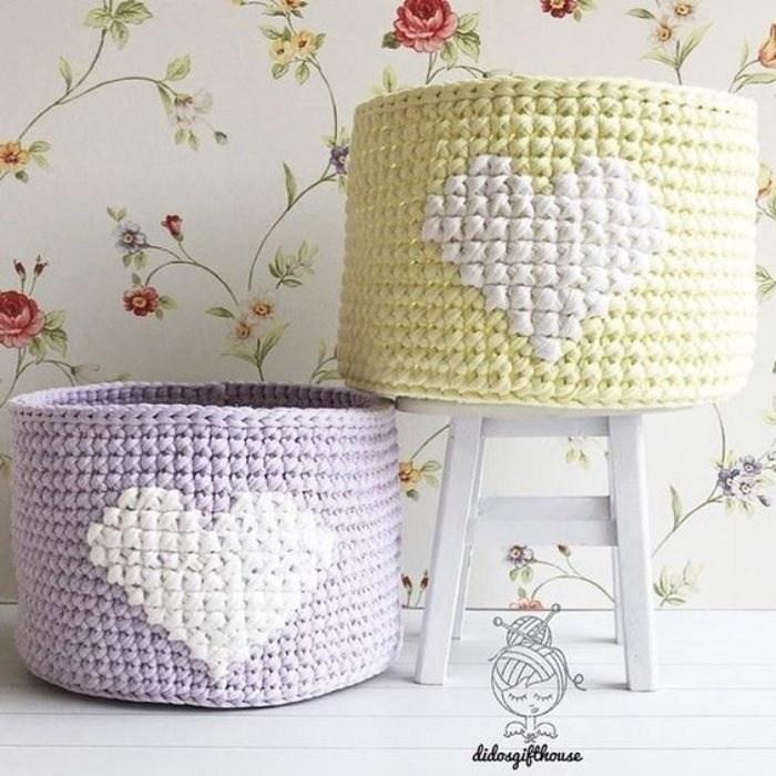 23 ideias de cestos com fio de malha para presentear