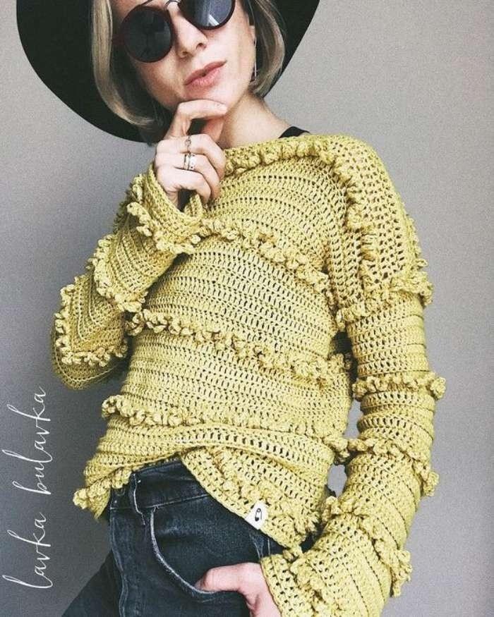 Tendência: Blusa de crochê - 16 inspirações