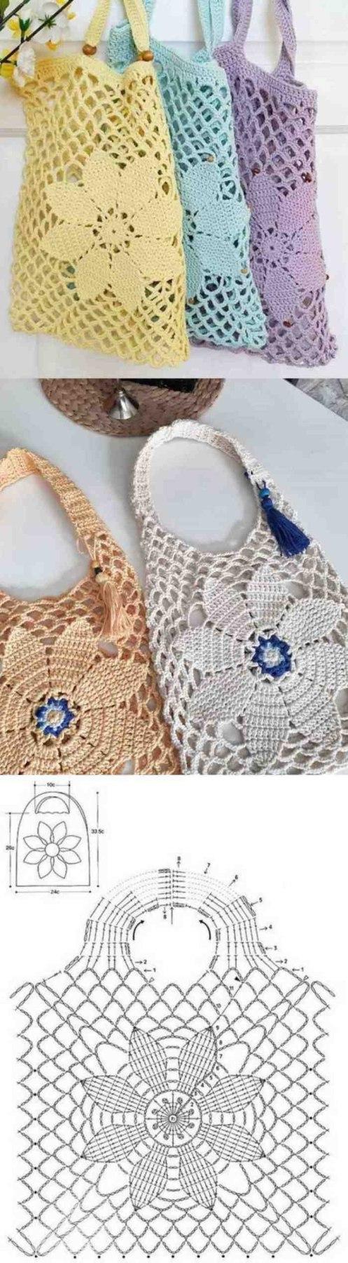 21 ideias de bolsas de crochê para se inspirar