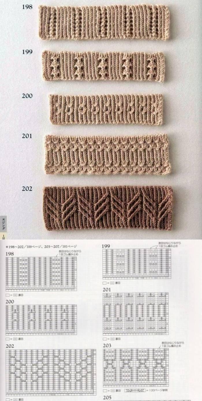 36 belos bicos  e barrados em tricô para copiar!