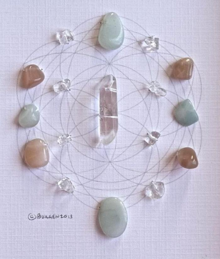 Boas vibrações: Monte a sua grade de cristais linda e poderosa!