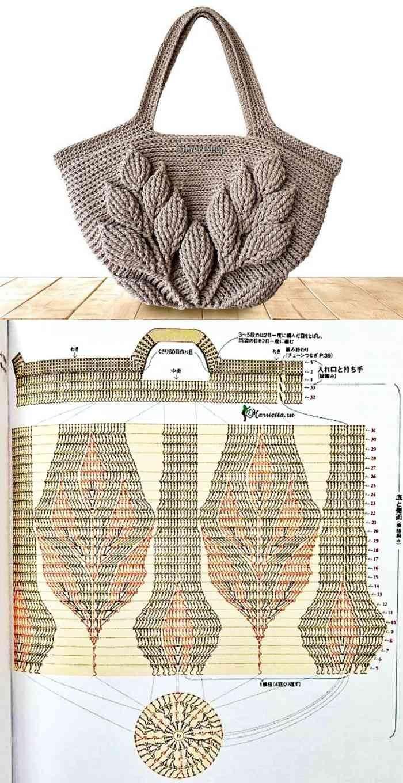 26 Lindos modelos de bolsa de crochê e gráficos