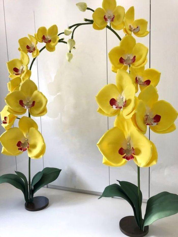 Ideias e modelos de flores de papel gigante - a orquídea