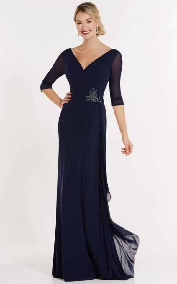 Moda festas: Vestido longo azul - Pantone 2020