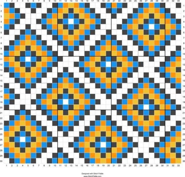 Faça e venda: Tapete geométrico de crochê