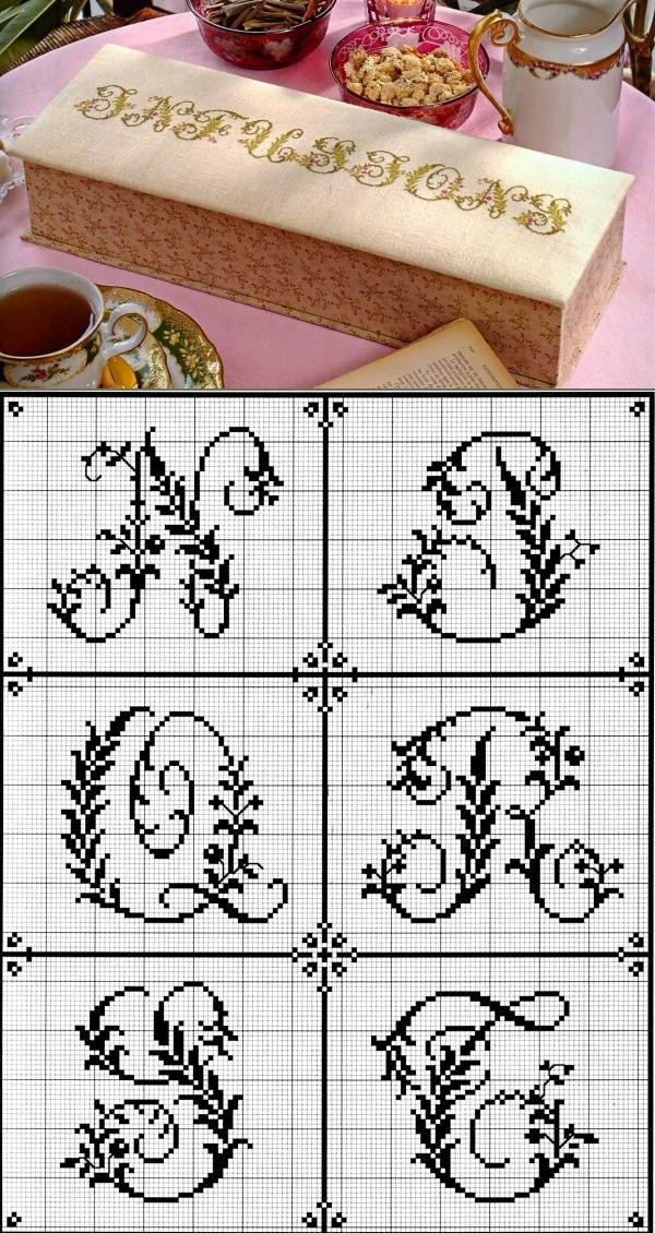 Para baixar e bordar lindos monogramas