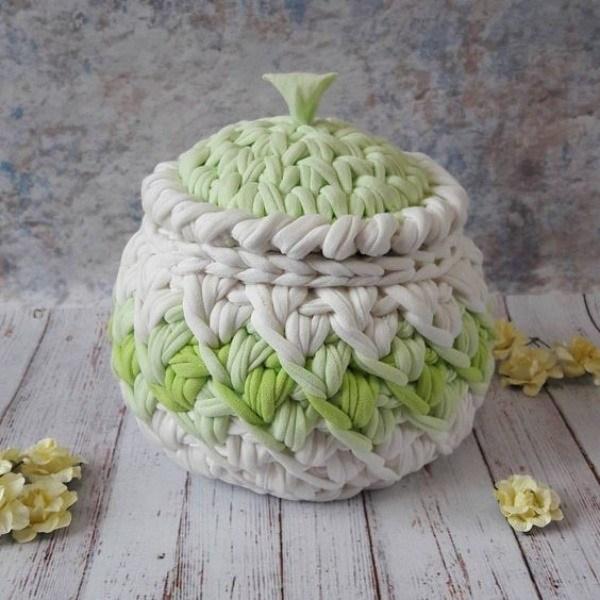 18 ideias de cestos de fio de malha
