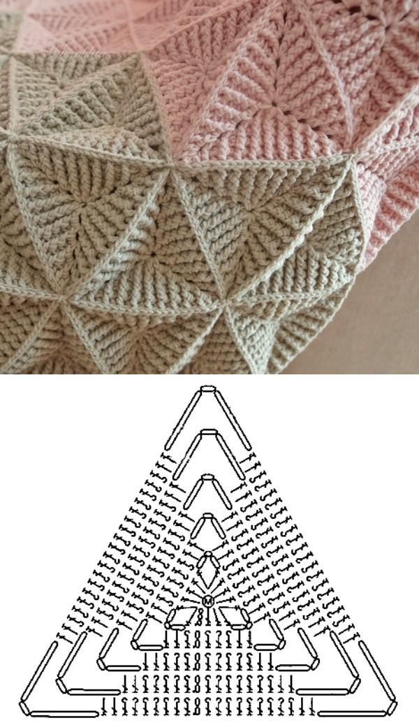 11 mantas de crochê com gráfico do ponto
