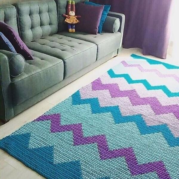 Faça e decore com lindos tapetes de crochê geométrico