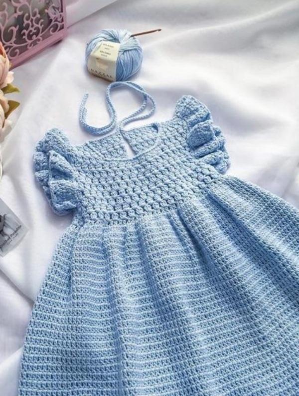 Lindos modelos de vestido infantil em crochê