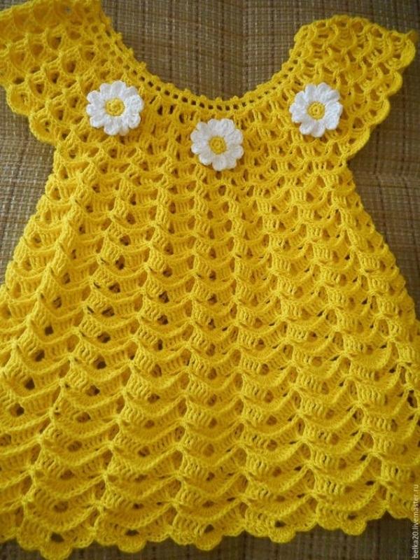 Lindos modelos de vestido de crochê para bebê