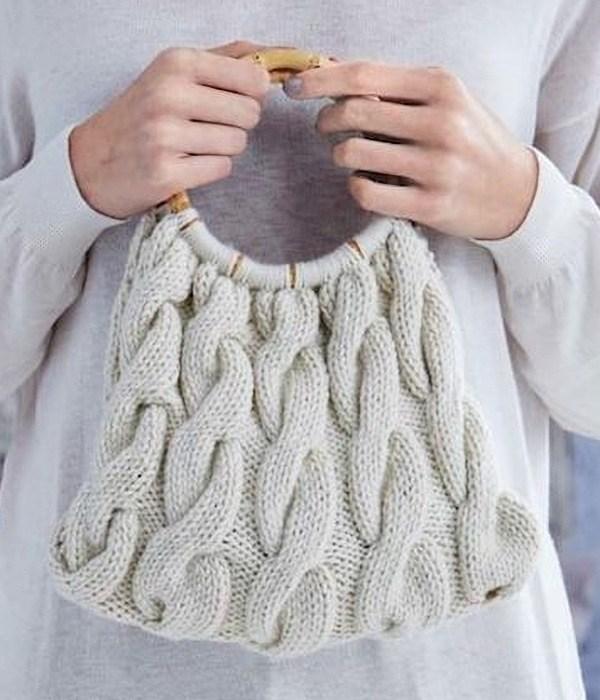 15 Modelos de bolsas com trança de tricô