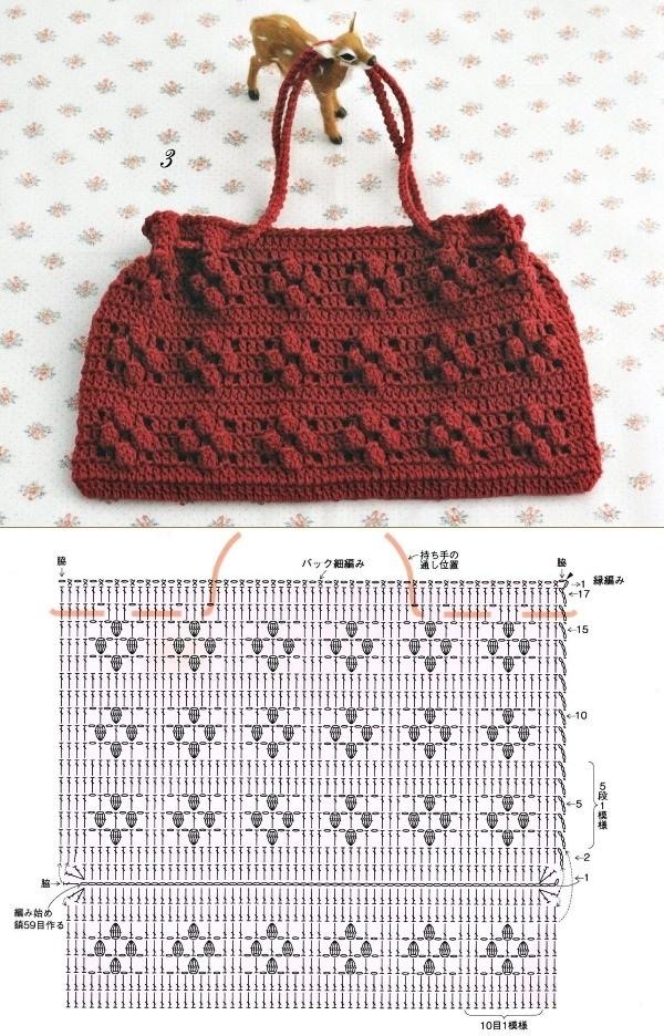 10 Modelos de Bolsa de Crochê com Receitas