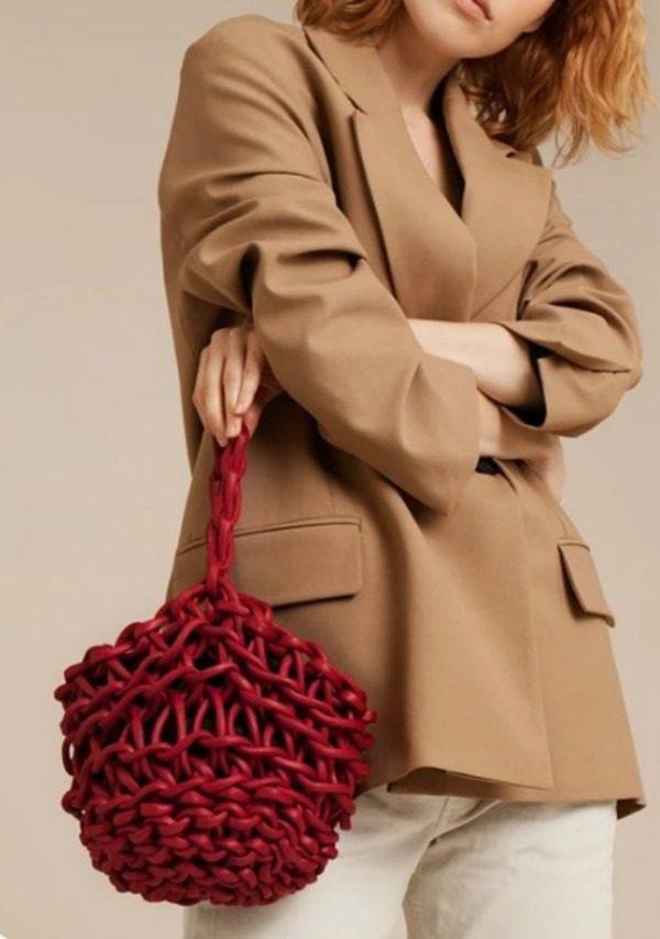 Modelos de bolsa de tricô com fio náutico
