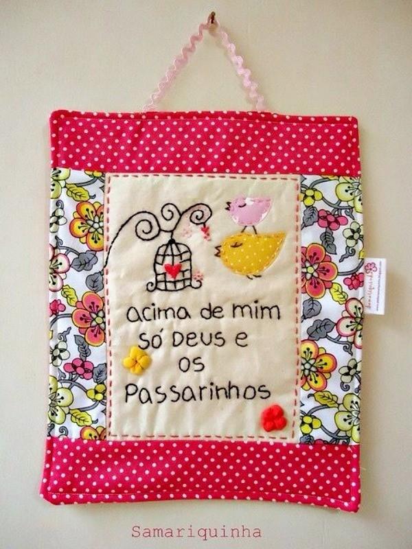 17 inspirações de mensagem bordada para fazer e decorar