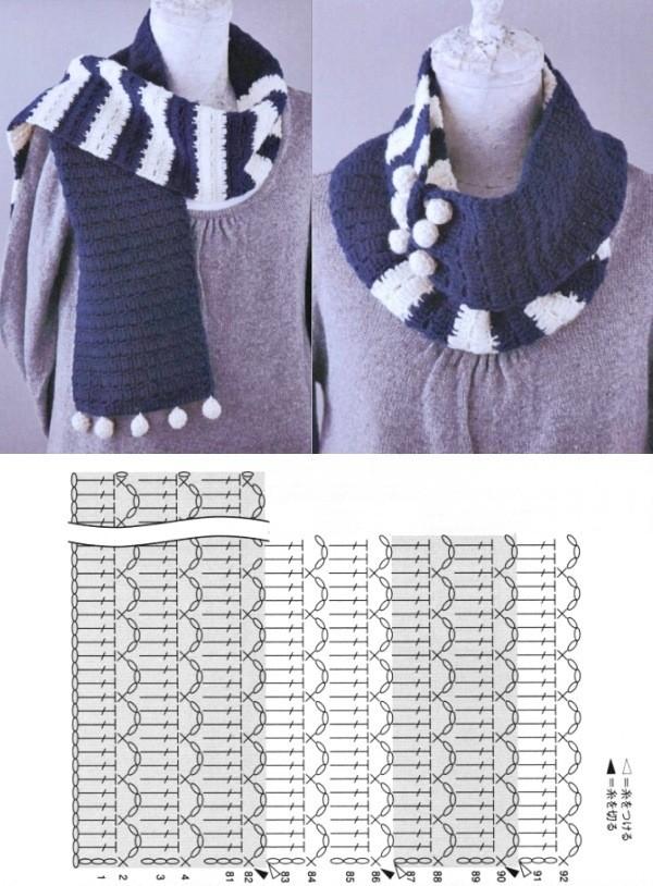 11 Modelos de xale e cachecol de crochê com receita