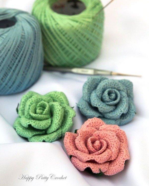 Crochê criativo: 14 belas inspirações de flores de crochê