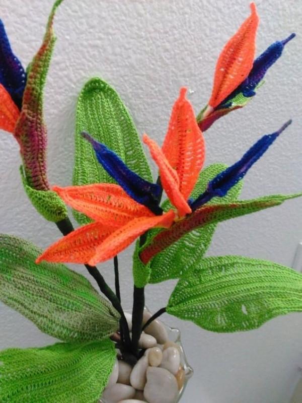 Crochê criativo: +14 belíssimas criações de flores de crochê