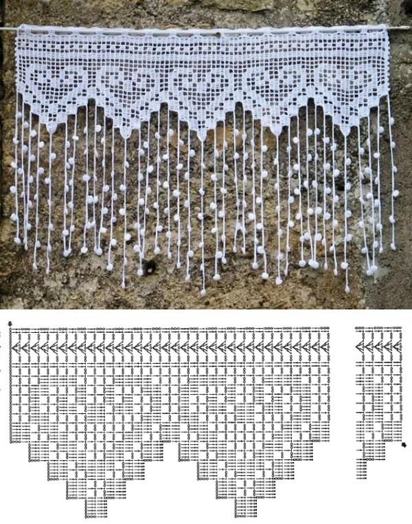 12 Modelos de Cortinas de Crochê com Receita