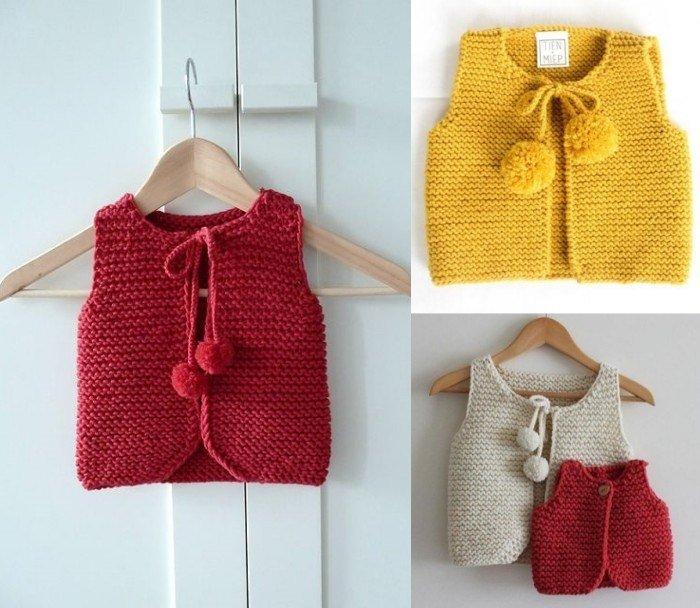 26 modelos de roupinhas de bebê em tricô e crochê