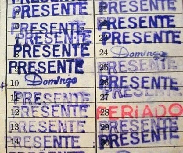 30 de Janeiro - Dia da Saudade - Caderneta de presença escolar