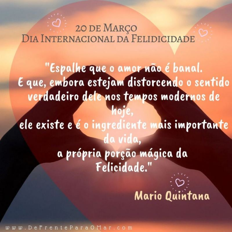 20 de Março, Dia Internacional da Felicidade