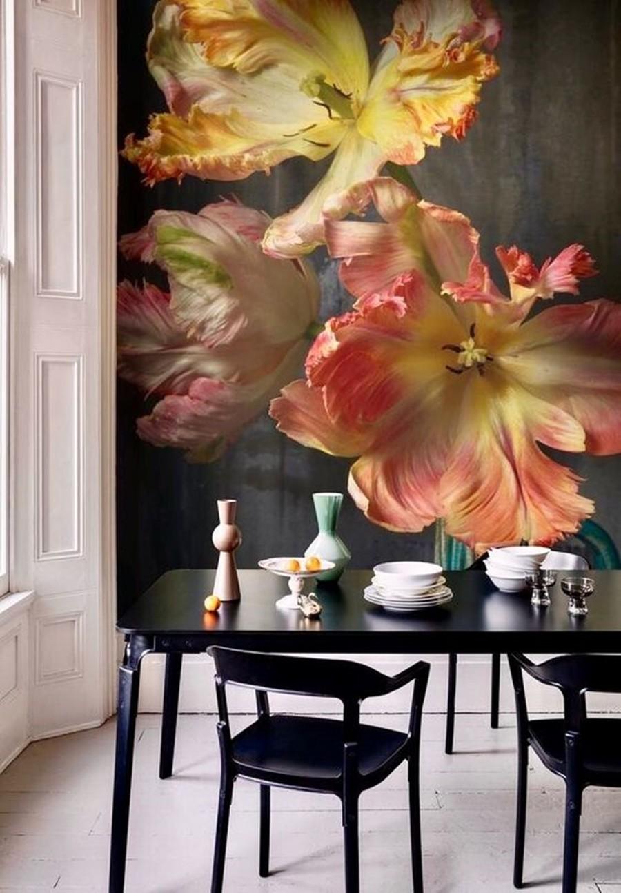 painel fotográfico - decoração na sala
