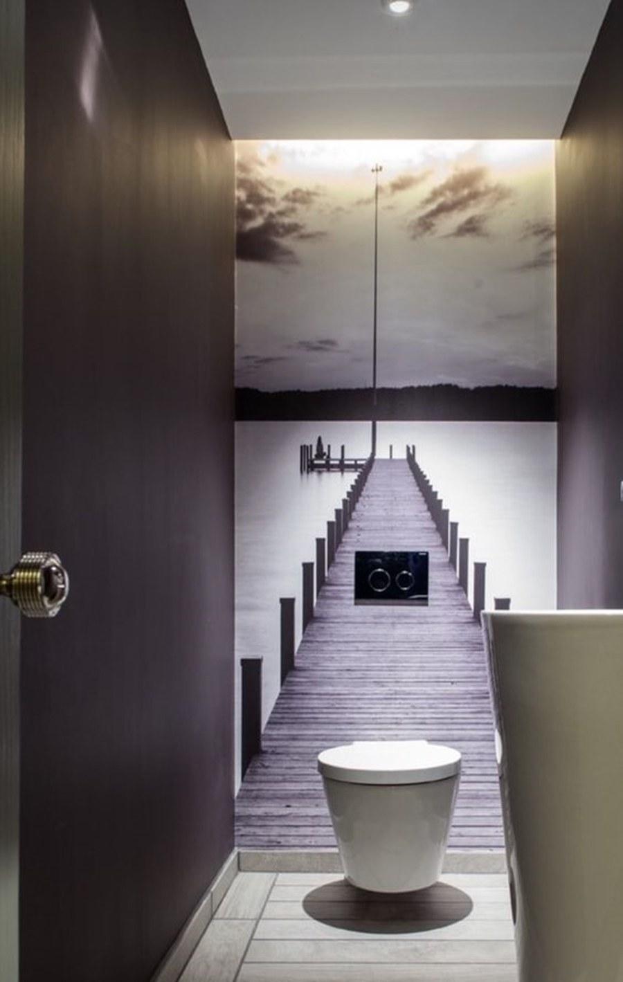 painel fotográfico - decoração no banheiro