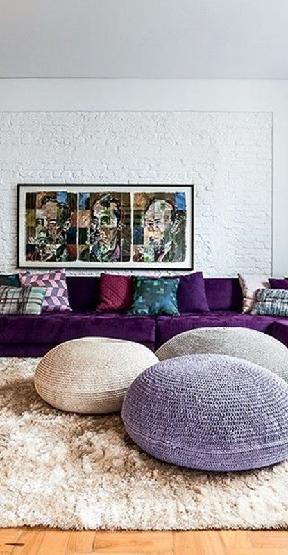 decoração na sala cor 2018 pantone - ultravioleta - ultra violet