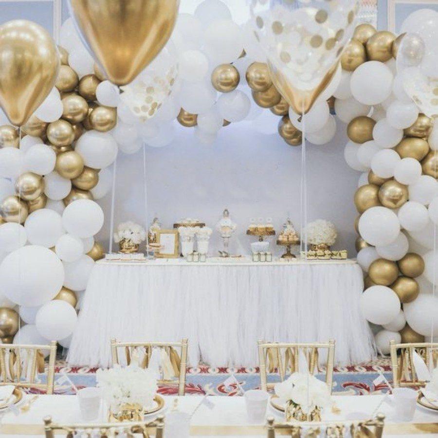 12 Ideias para decoração da festa de bodas de ouro