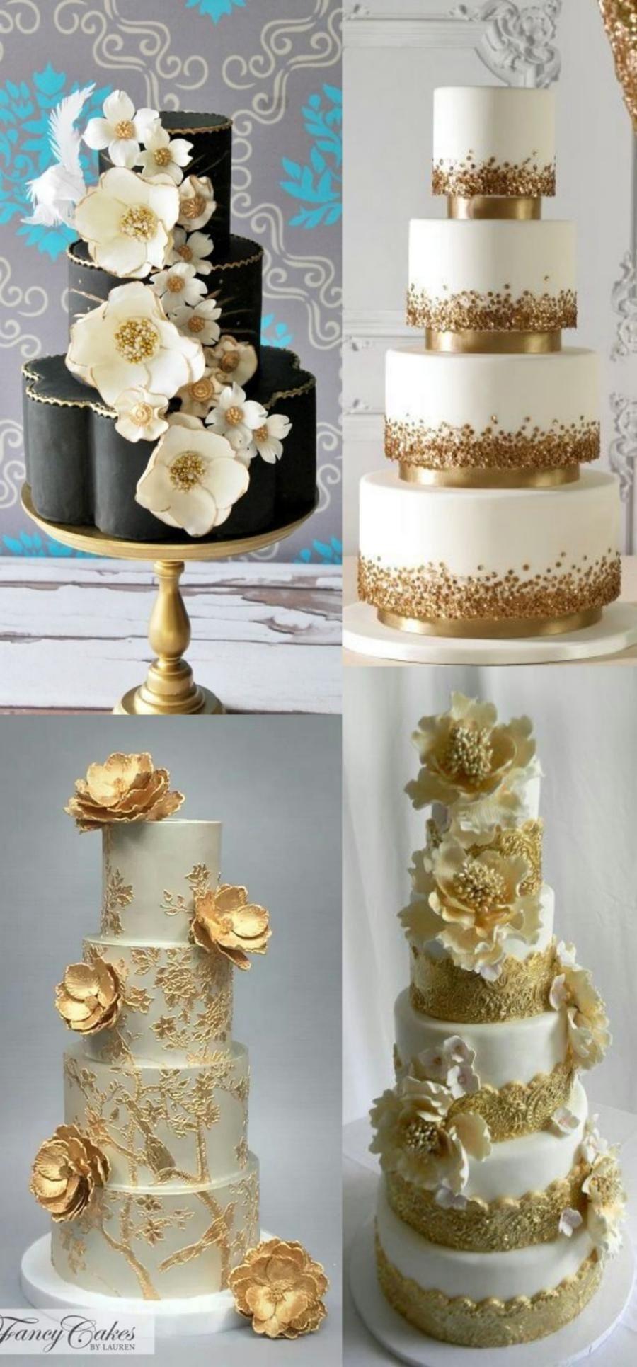 20 ideias para festa de bodas de ouro - decoração do bolo