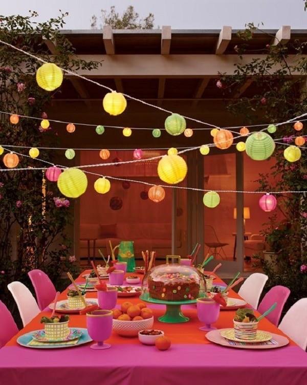 Festa ao ar livre: decorando a mesa, boas ideias