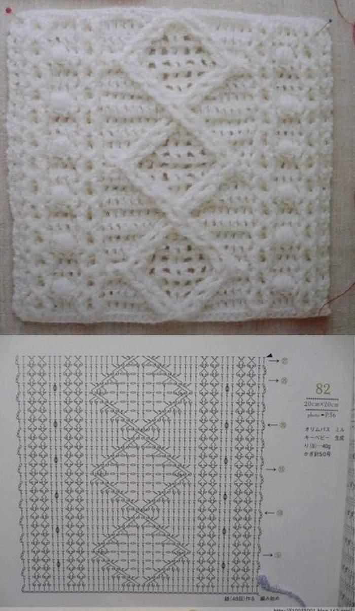 O crochê com cara de tricô  -  gráfico de crochê que imita o tricô