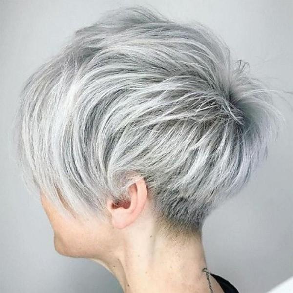 26 Dicas de corte para cabelos grisalhos ou brancos curtíssimoss