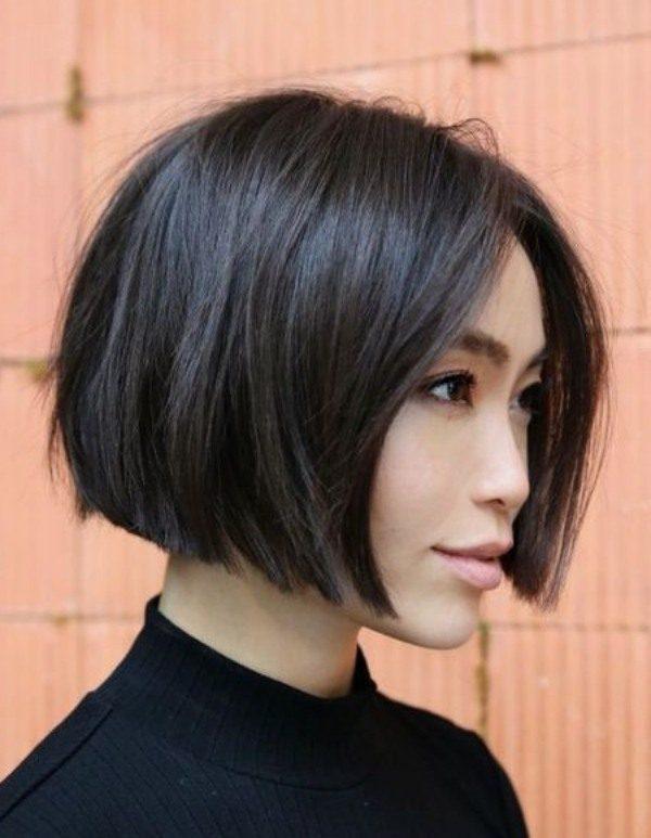 Ideias de cortes de cabelo reto blunt cut