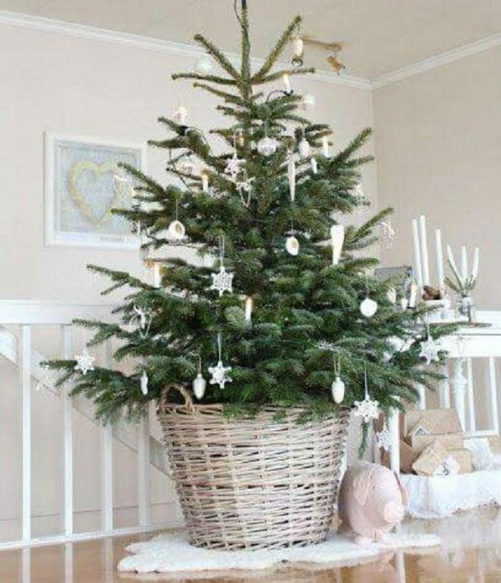 Árvore de natal tradicional ou árvore de natal criativa